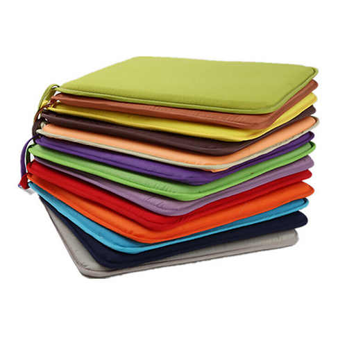 Hot Sale 7 Colors 40x40cm Cotton Blend Cushions Dining Garden Home Kitchen Office Chair Seat Pads Cushion
