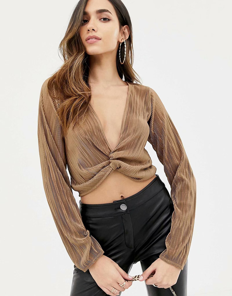 Manga Algodón Blusas 2019 Mujer Primavera Corto Grandes Top Larga Oficina Señoras V Blusa De Tamaños Las Cuello Coffee Dama t68SqA6w