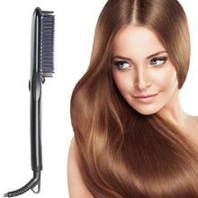 Big discount 2016 New Electric Fast Hair Straightener Comb LCD Hair Care Hair Straightening Hair Straighteners Combs