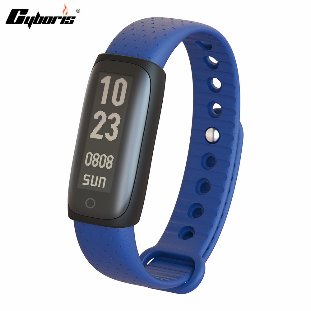 CYBORIS Smart band Wristband 0.91″Pulse Heart Rate Monitor Activity Fitness Tracker Bluetooth 4.1 Touchkey For iOS xiaomi ect