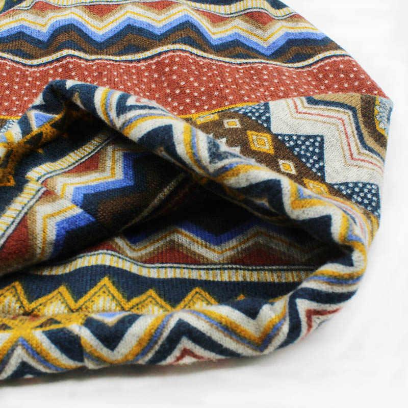 LOVINGSHA ฤดูใบไม้ร่วงฤดูหนาว Skullies Beanies VINTAGE Dual-ใช้หมวกสำหรับสุภาพสตรีบางสาวแฟชั่น Feminino ผ้าพันคอ HT069