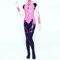 Nature 100% Latex Rubber Women Fashion Bodysuit Racing Catsuit 0.4mm Size XXS XXL