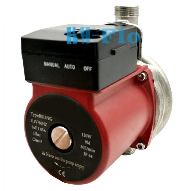 110-120 ボルト家庭用加熱温水循環ポンプに暖かい超静音ブースターポンプセントラルヒーティング NPT 3/4 ''120 ワット
