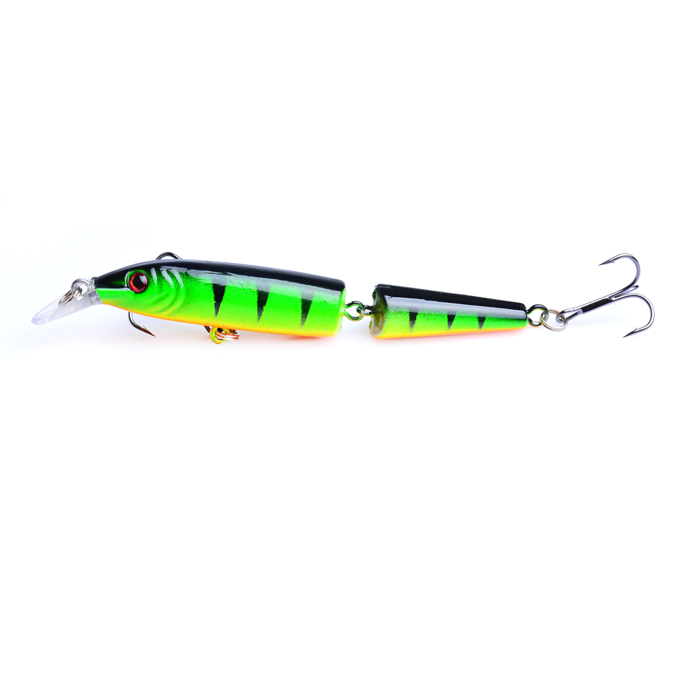 YUZI 5Pcs Hard Fishing Minnow Lures Bait Swimbait 2 Segments Jointed Tackle 10 2cm 9 2g in Fishing Lures from Sports Entertainment