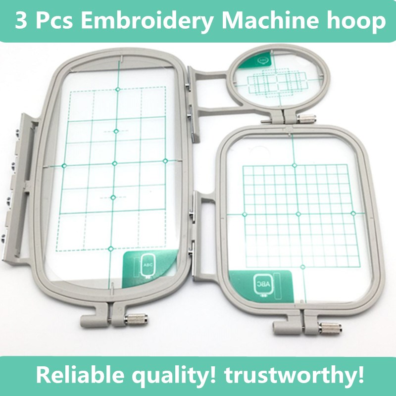 3PCS Sewing Embroidery Machine Hoops Set Sewing Hoops Frame Fit Brother SE350 SE400 LB6770 LB6800 SE270D HE120 HE240 Babylock