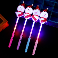 50 Pcs Christmas Light Up Sticks Cute Snowman LED Flashing Wand Gift Luminous Toys Party Supplies for Kids Children