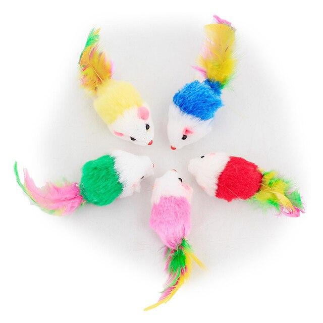 1 Pcs/3 Pcs/5 Pcs/10 Pcs Morbido Pile Falso Mouse Per Il Gatto Giocattoli Colora