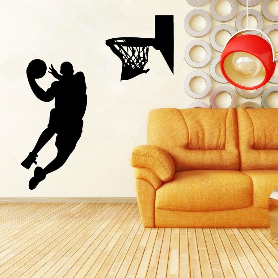 Free Shipping Large size Basketball Wall Art Decor ,Basketball ...