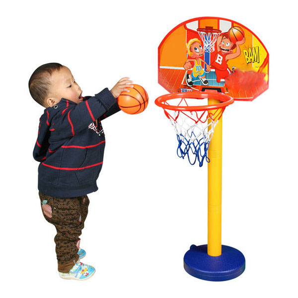 Kids Child Outdoor Indoor Sports Train Equipment Mini Portable Adjustable Basketball Hoop Toy Set Stand Ball Pump Backboard Net