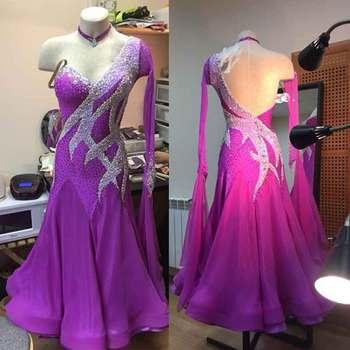 384abbb022 Modern Waltz Tango Ballroom Dance Dress