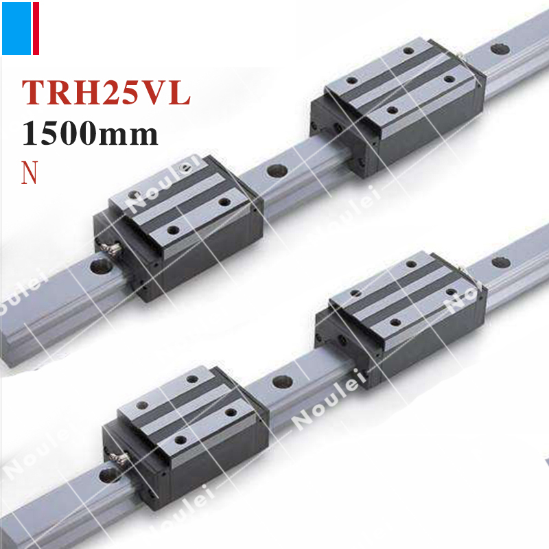 TBI TR25N 1500mm linear guide rail with TRH25VL slide blocks stainless steel TBIMOTION High efficiency CNC sets X Y Z Axis tornet tr 25 b