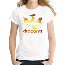 2019 Game Of Thrones Dracarys Tshirt t shirt Women Mother Of Dragons Shirt Womens T-Shirts King Queen Girls Friends Mon Gift Tee(China)
