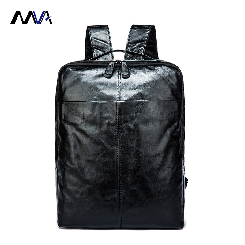 MVA  Leather Backpack Brand Men's Travel Bags Luggage School Bag Men Bag Genuine Leather Men Backpack Fashion Man Backpacks marrant genuine leather backpacks men shoulder bag men bag leather laptop bag 15 inch men s luggage travel bags school backpack