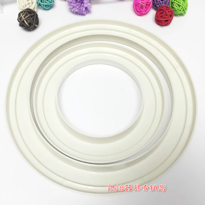 6/7/8/9/10/12 Inch Plastic Pizza Saucing Ring, Pizza Prep Tools, DIY Pizza, mold for pizza, baking accessories image
