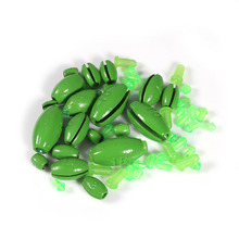 20pcs/Set 1g~25g Lead Weight Carp Fishing Lead Sinker Mould Olive in Line Quick Insert  Fishing Accessory Tackle Kit Multi Size