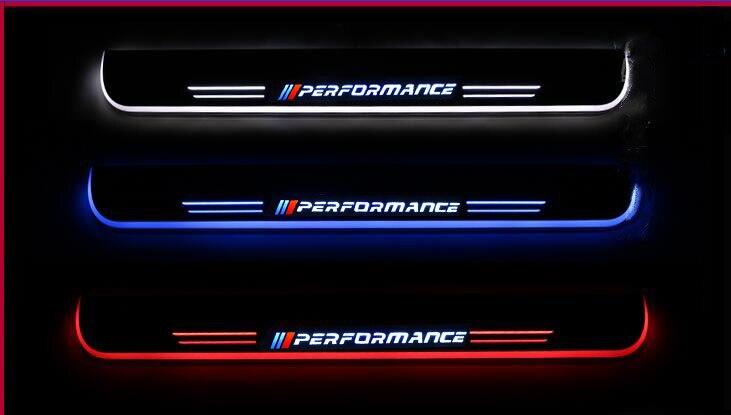 Qirun LED Door Sill Scuff Plate Guards Door Sills Car Accessories for BMW X5 F15 X6 F16 F20 F21 F30 E90 E92 F10 F11 E60