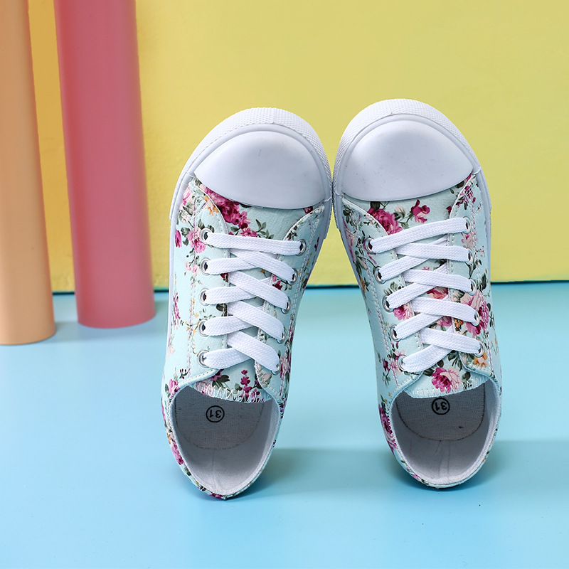 2019 Children Sport Shoes Toddler Girl Canvas Shoes Kids Sneakers Colorful Flat Sneaker Shoes fashion Girl Breathable