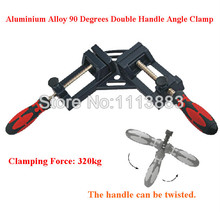 High Quality Double Handle 90 Degrees Right Angle Clamps For Woodworking Aluminum Alloy Quick Release Metal Corner Clamp цена 2017