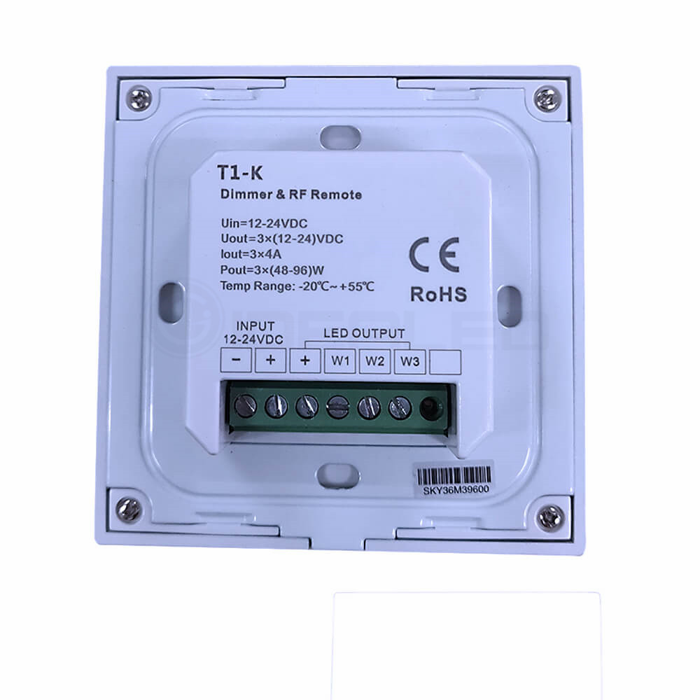 Dimmer Knob Touch LED Nəzarətçi Dönüşlü Divarda Panelə - İşıqlandırma aksesuarları - Fotoqrafiya 6