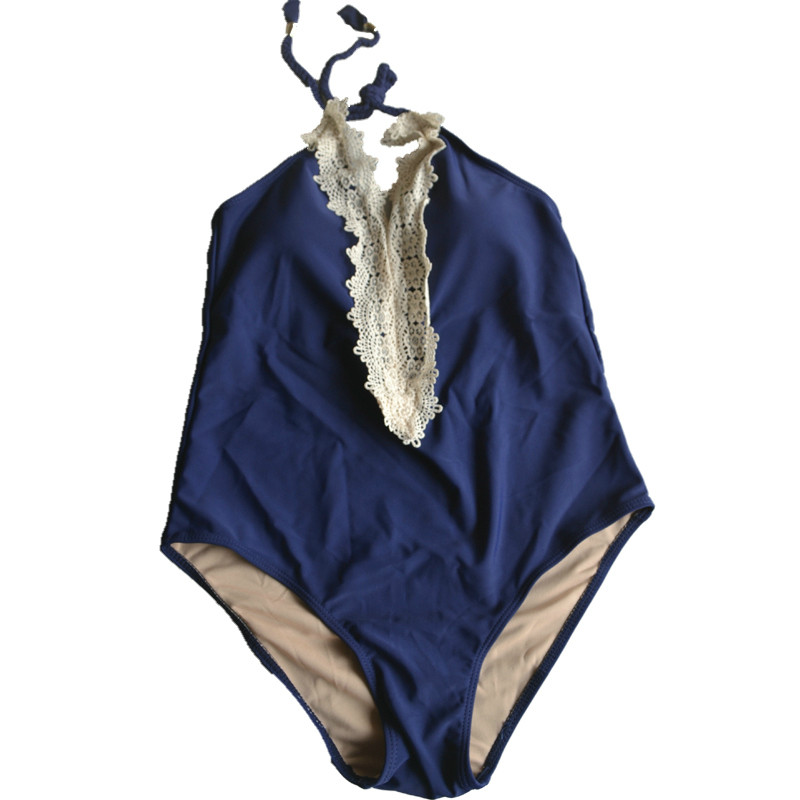 S-XL HOT NEW Sexy DEEP V halter One Pieces swimsuit women&girls sexy sports lace swimsuit Faits trajes de para