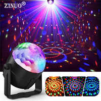 Luces de discoteca activadas por sonido znuo 3W RGB giratorio BOLA MÁGICA Luz de escenario lámpara para fiesta en casa KTV Navidad boda Show Pub
