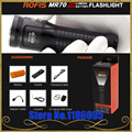 Rofis MR70 XHP70.2 CW/XP-G2 NW LED 3500lm Oplaadbare Zaklamp beam gooi 248 m outdoor torch + 26650 5500 mAh batterij