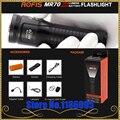 Rofis MR70 XHP70.2 CW/XP-G2 NW LED 3500lm Wiederaufladbare Taschenlampe strahl werfen 248 mt außen fackel + 26650 5500 mAh batterie