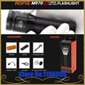 Rofis MR70 XHP70.2 CW/XP-G2 NW LED 3500lm linterna recargable Rayo a 248 m al aire libre antorcha + 26650 de 5500 mAh de la batería