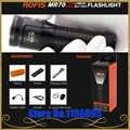 Rofis MR70 XHP70.2 CW/XP G2 NW LED 3500lm lampe de poche Rechargeable faisceau jeter 248 m torche extérieure + 26650 5500 mAh batterie