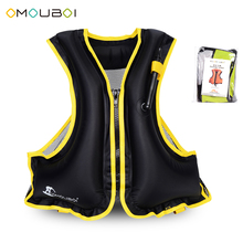 Adult Inflatable Swim Vest Life Jacket for Snorkeling Floating Device Swimming Drifting Surfing Water Sports Life Saving