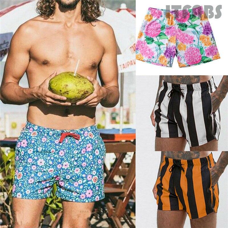 2019 Men's Shorts Beach Wear Shorts Trunks Charm Boxer Briefs Pants Quick Dry Pantalonetas Hombre Playa