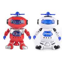 2 Colors Smart Space Dance Robot Electronic Walking Toys With Music Light Gift For Kids Astronaut