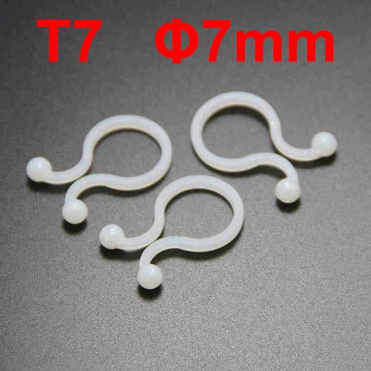 300pcs/Lot T7 7mm Dia Ball U Type White Nylon Plastic Round Circle Cable Clip Lock Network Wire Reusable Twist Tie