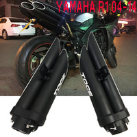 TOCE Motorcycle Full Exhaust System Left Right Side Muffler Mid Pipe For YAMAHA R1 2004 2005 2006 2007 2008 2009 2014 YZF R1