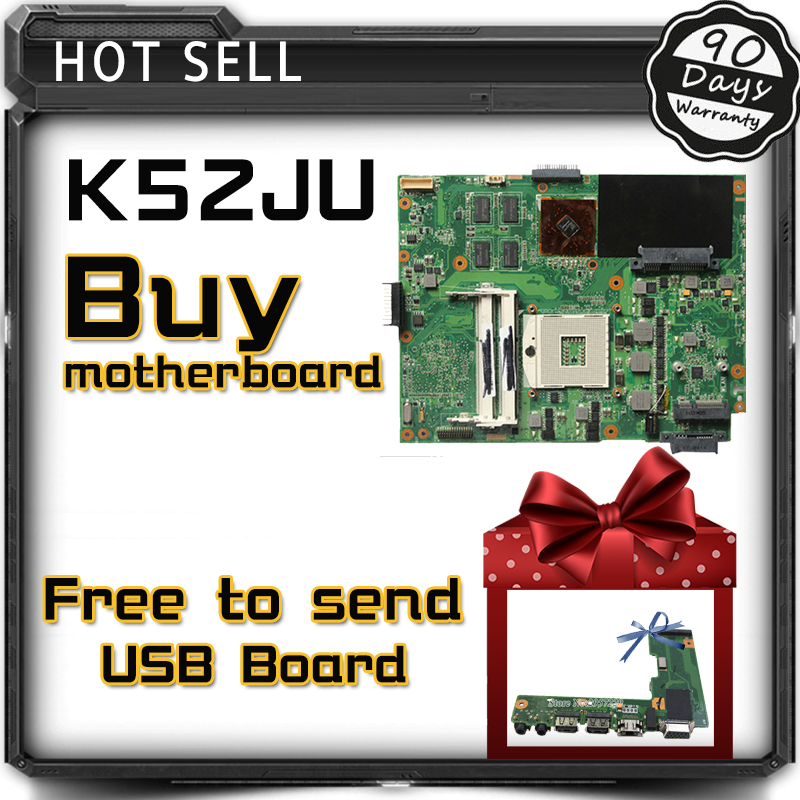 For ASUS K52JR Laptop Motherboard DDR3 REV: 2.3A 4 pieces video memory fit for K52J A52J K52JT mainboard test and free shipping for asus n76v n76vm n76vj n76vz laptop motherboard rev 2 2 pga989 with graphic full test