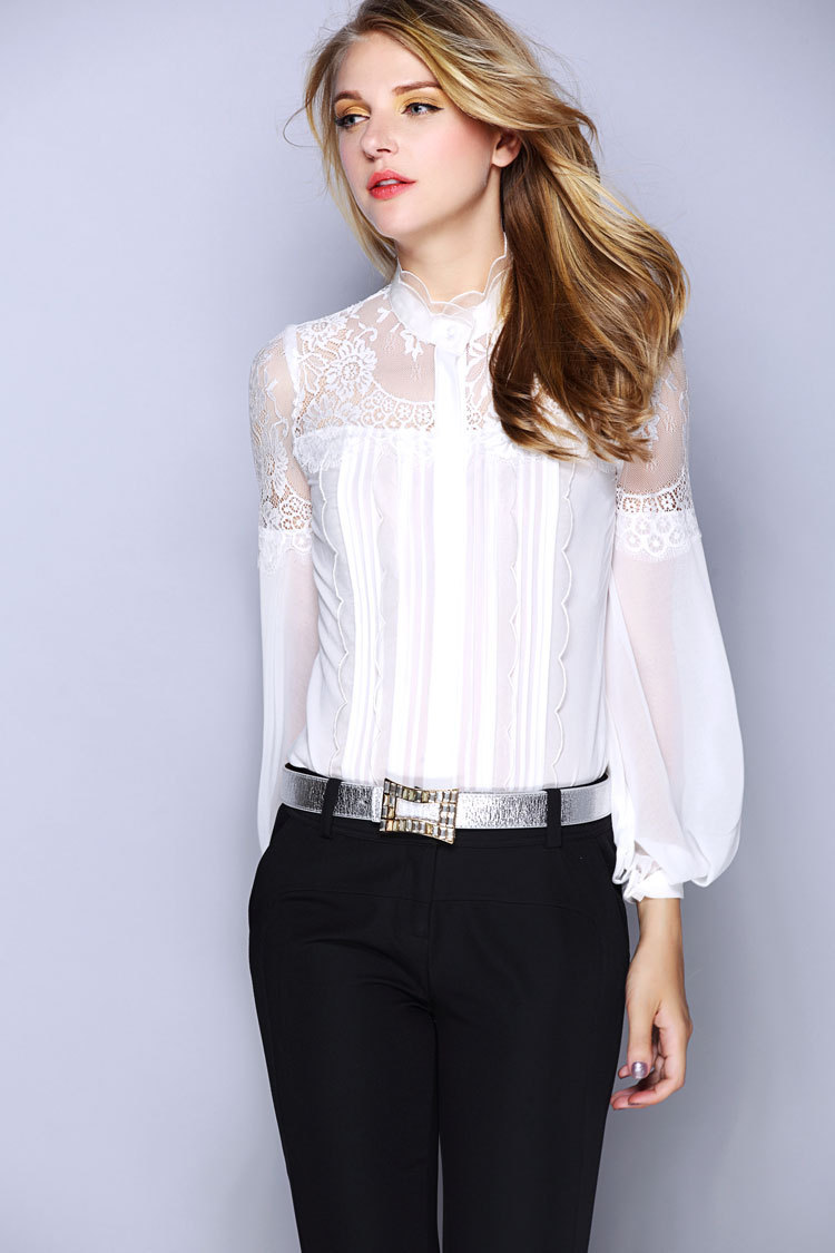 Popular White Silk Blouse-Buy Cheap White Silk Blouse lots from ...