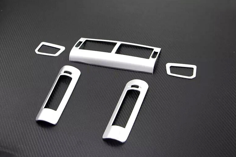 For Land Rover Discovery Sport 2015 2016 ABS Matt Air condition Vent Outlet Cover Trim 5pcs/set air condition vent outlet cover trim 5pcs for land rover discovery sport 2015 2016 car interior accessories car styling