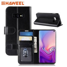 HAWEEL For Galaxy S10 Lite Phone Cover Texture Horizontal Flip Leather Case Pure Guard Shell Samsung