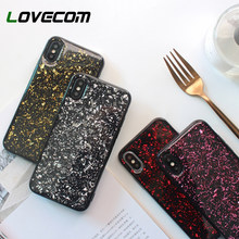 LOVECOM Vintage Glitter Cases For iPhone X XS Max XR 6 6S 7 8 Plus Full. 5  Colors Available 789a0f19e65a