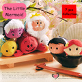 Free Shipping TS Ariel Little Mermaid Collection 7pcs/lot mobile screen cleaner keychain bag hanger Prince King plush toy gift