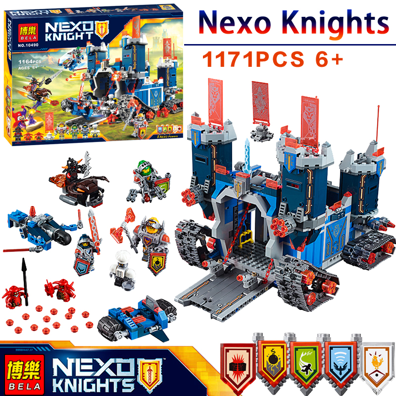 1171Pcs 10490 Nexus Knights The Fortrex Castle Model LegoINGlys Building Block Toys Compatible 70317 DIY Educational kids 2017 new nexus knights building blocks set the three brothers kids gift bricks toys compatible with legoinglys 14028 70350