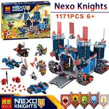 1171 Шт. 10490 Nexus Рыцари Fortrex Замок Модель LegoINGlys Строительный Блок Игрушки Совместим 70317 DIY Образования детей