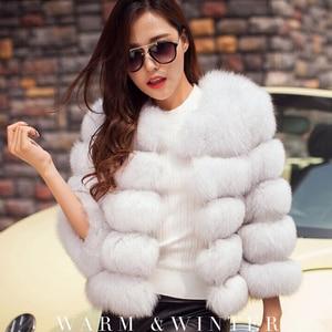 Image 2 - S 3XLミンクのコートの女性2020冬トップファッションピンクのフェイクファーコートエレガントな厚く暖かい上着フェイクファージャケットchaquetas mujer