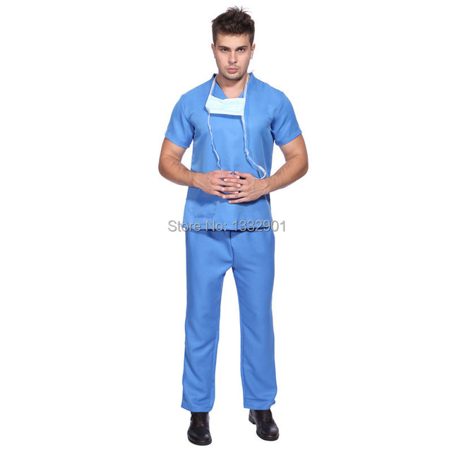 28269903064 US $19.49 |Mens Hospital Doctor Nurse Costume Outfit Scrub Top Pants Fancy  Dress Up-in Men's Costumes from Novelty & Special Use on Aliexpress.com |  ...
