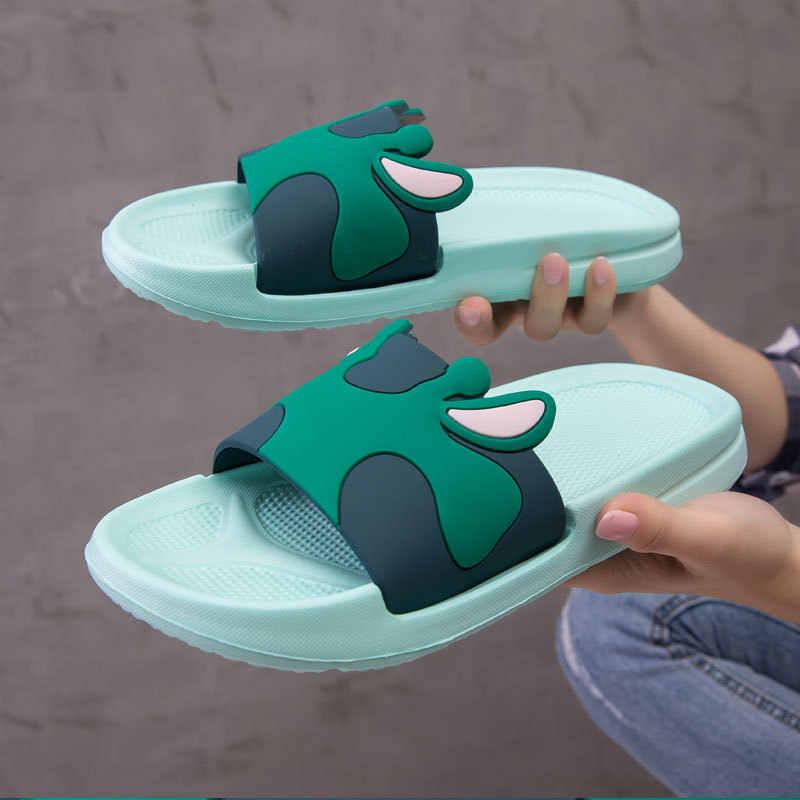 Mulheres Chinelos de Verão Sandálias Plataforma Mulheres Slides Bonito Dos Desenhos Animados Antiderrapante Em Chinelos Chinelos de Praia Zapatillas Mujer 2019
