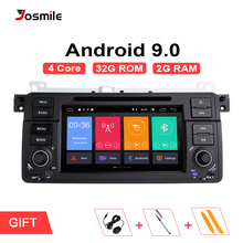Josmile 1 Din Android 9.0  GPS Navigation For BMW E46 M3 Rover 75 Coupe 318/320/325/330/335 Car Radio Car DVD Player Stereo Wifi silverstrong 1024 600 9 android7 1 quad core 1din car dvd for bmw e46 318 325 320 car gps dab m3 3series with navi radio