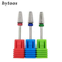 HYTOOS 3 in 1 Tepered Two-way Carbide Nail Drill Bits 3/32