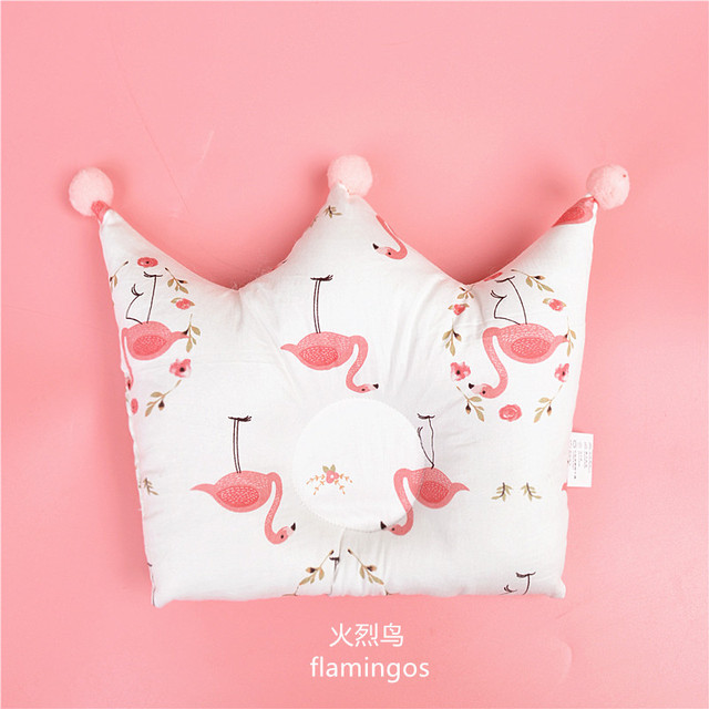 Cute Crown Shape Baby Pillow for Newborn, Neck and Head Support