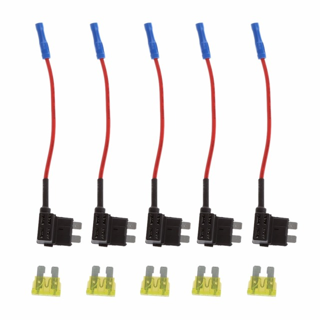 5 pcs add circuit mini blade fuse box holder acs ato atc piggy back Micro Mini Fuse at 30a Mini Blade Fuse Box