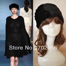 LUXURY FAUX FUR HEAD BANDS Hats Fashion Apparel Cap Hat mixed color 10pcs/lot #3400